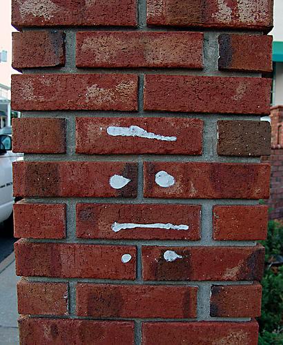 Glyph on a brick